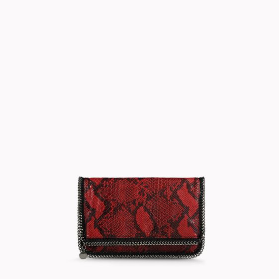Stella McCartney, Falabella Python Fold Over Clutch