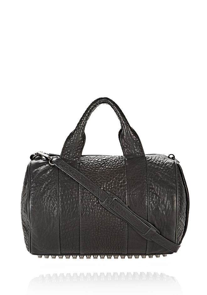 ALEXANDER WANG Shoulder bags Women ROCCO IN PEBBLED BLACK WITH BLACK NICKEL