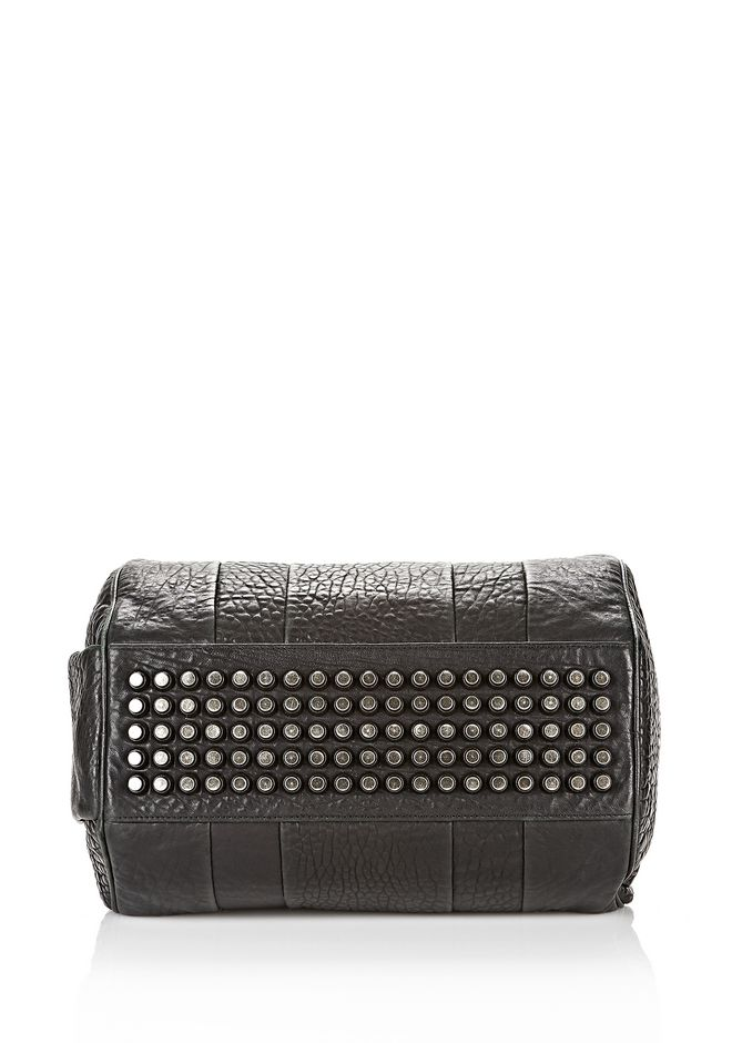 ALEXANDER WANG ROCCO IN PEBBLED BLACK WITH BLACK NICKEL Shoulder bag Adult 12_n_e
