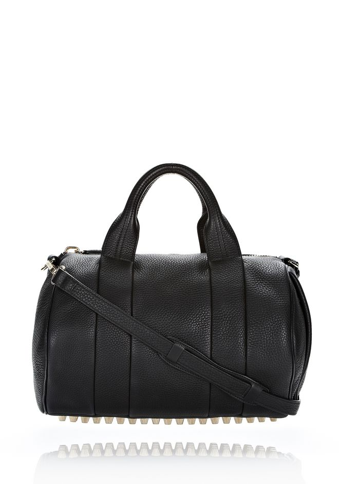ALEXANDER WANG ROCCO IN SOFT BLACK WITH PALE GOLD