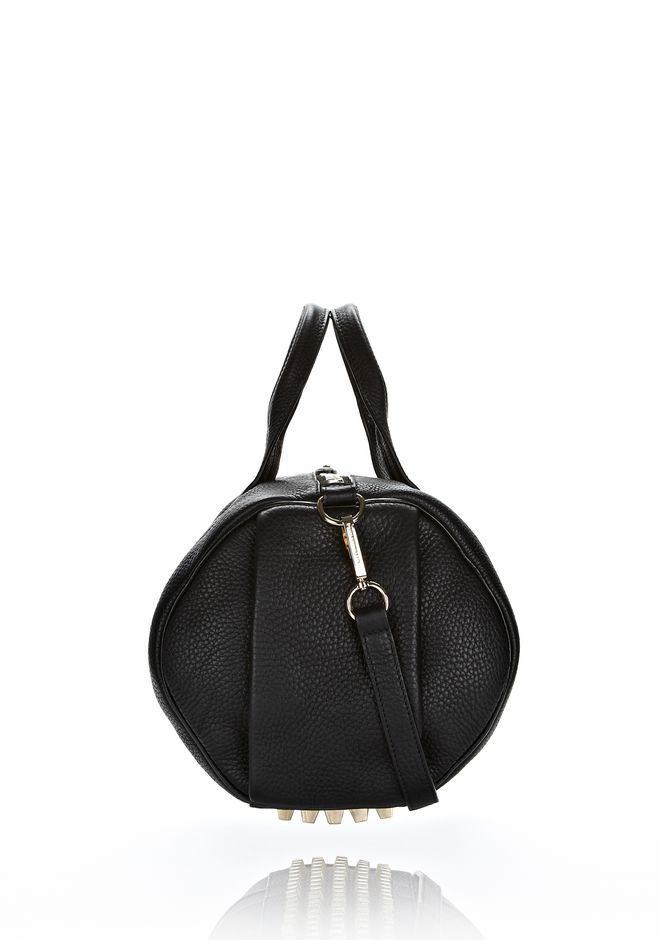 ALEXANDER WANG ROCCO IN SOFT BLACK WITH PALE GOLD Shoulder bag Adult 12_n_d