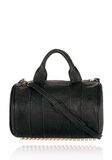 ALEXANDER WANG ROCCO IN BLACK PEBBLE LAMB WITH ROSEGOLD Shoulder bag Adult 8_n_f