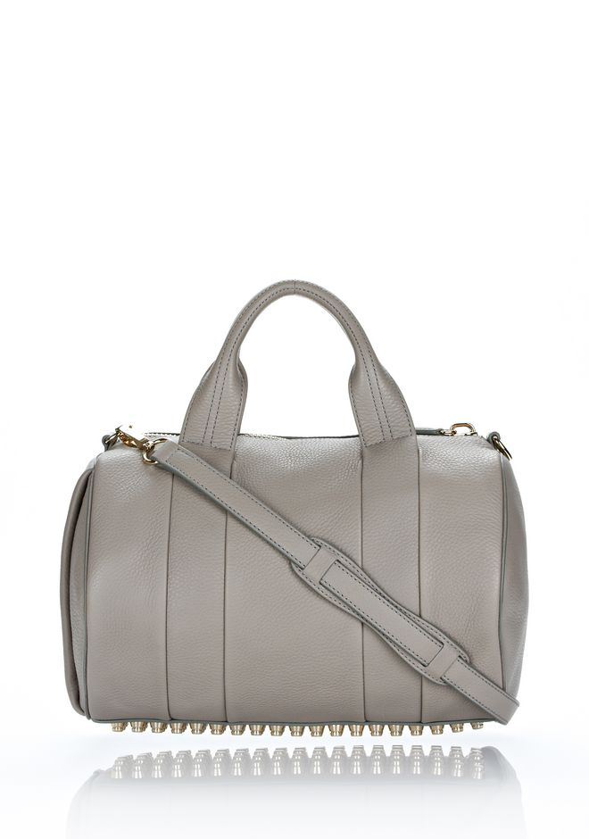 ALEXANDER WANG ROCCO IN OYSTER SOFT PEBBLE LAMB WITH PALE GOLD Shoulder bag Adult 12_n_f