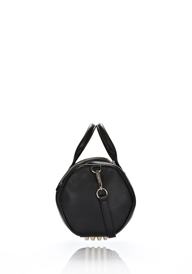 ALEXANDER WANG ROCKIE IN SOFT  BLACK WITH PALE GOLD Shoulder bag Adult 12_n_e