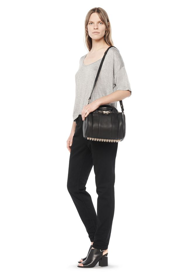 ALEXANDER WANG ROCKIE IN SOFT  BLACK WITH PALE GOLD Shoulder bag Adult 12_n_r