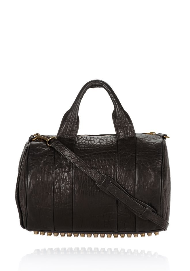 ALEXANDER WANG Shoulder bags Women ROCCO IN BLACK PEBBLE WITH ANTIQUE BRASS