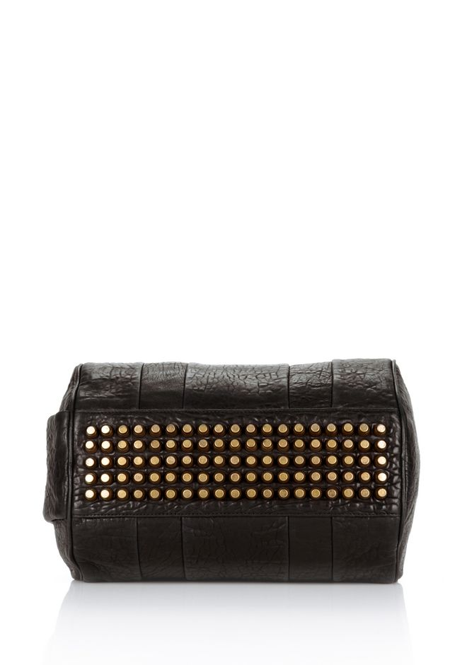ALEXANDER WANG ROCCO IN BLACK PEBBLE WITH ANTIQUE BRASS Shoulder bag Adult 12_n_e