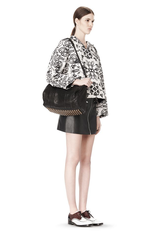 ALEXANDER WANG ROCCO IN BLACK PEBBLE WITH ANTIQUE BRASS Shoulder bag Adult 12_n_r
