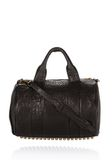 ALEXANDER WANG ROCCO IN BLACK PEBBLE WITH ANTIQUE BRASS Shoulder bag Adult 8_n_f