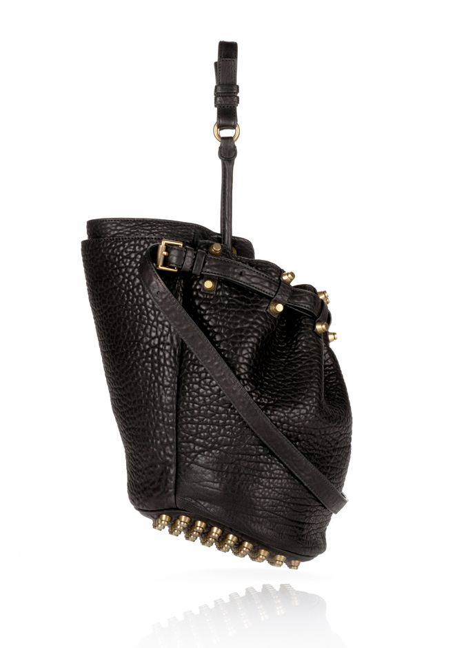 ALEXANDER WANG DIEGO IN BLACK PEBBLE  WITH ANTIQUE BRASS Shoulder bag Adult 12_n_e