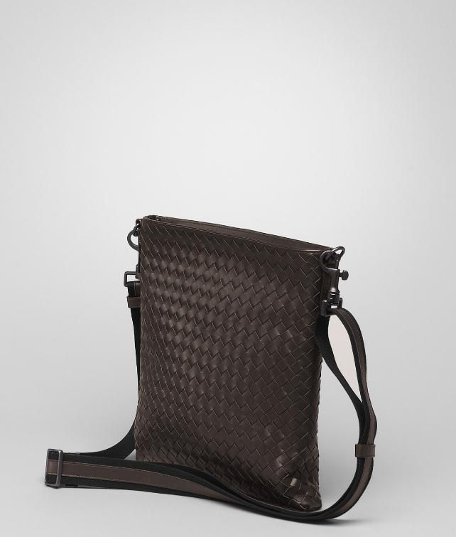 BOTTEGA VENETA SMALL MESSENGER BAG IN LIGHT TOURMALINE INTRECCIATO VN Messenger Bag U fp