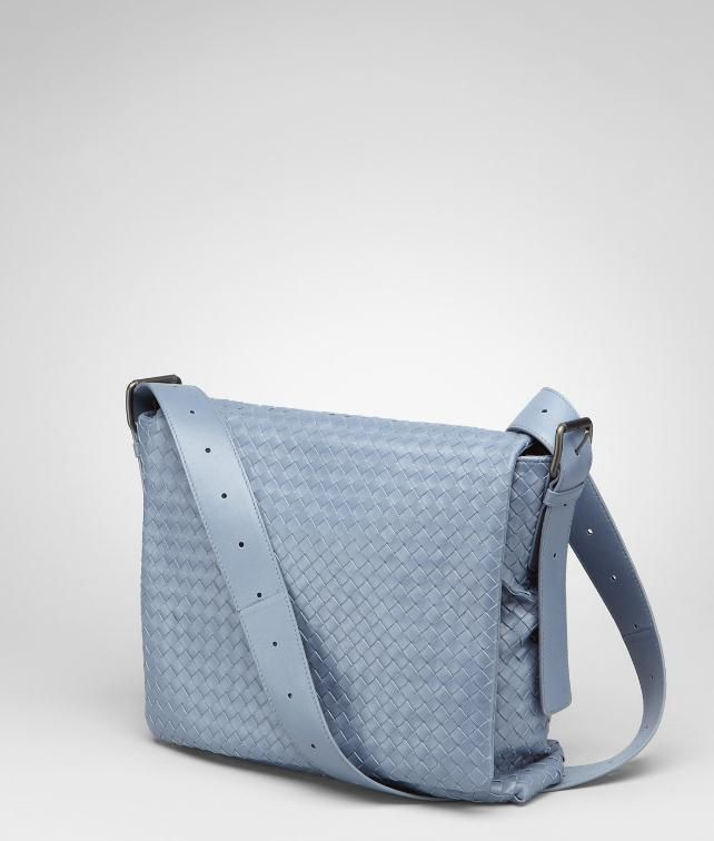 Intrecciato Light Calf Cross Body Messenger