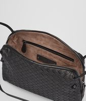 Nero Intrecciato Nappa Cross Body Bag