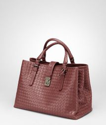 Top Handle BagBagsCalf-skin leatherRed Bottega Veneta®