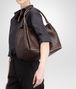 BOTTEGA VENETA Ebano Intrecciato Nappa Parachute Bag Shoulder or hobo bag D ap