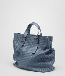 ToteBagsLeatherBlue Bottega Veneta