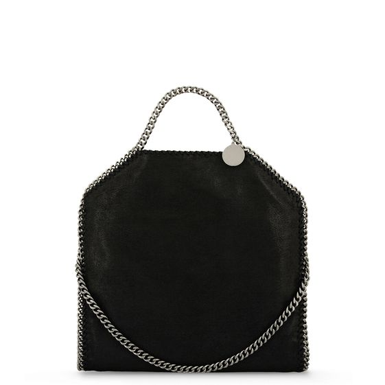 Stella McCartney, Tasche Falabella in Hirschlederoptik mit Fold Over-Verschluss
