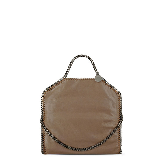 Stella McCartney, Tasche Falabella in Chamois-Optik mit Fold Over-Verschluss