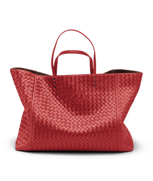 BOTTEGA VENETA TOTE BAG IN BLOOD INTRECCIATO NAPPA Tote Bag D fp