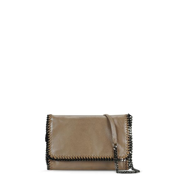 Stella McCartney, Umhängetasche Falabella in Chamois-Optik