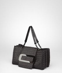 Top Handle BagBagsPaper YarnBlack Bottega Veneta
