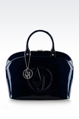 Armani Top handles Women handbag in faux patent leather