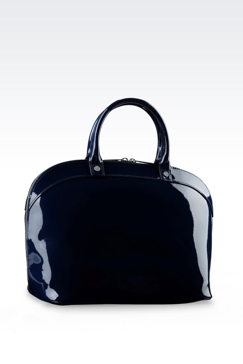 HANDBAG IN FAUX PATENT LEATHER: Top handles Women by Armani - 3