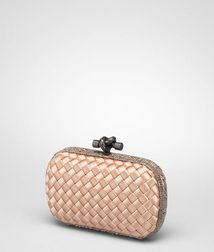 ClutchBagsTextile fibres, Reptile leatherRed Bottega Veneta