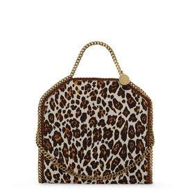 STELLA McCARTNEY, Shoulder Bag, Falabella Leopard Print Fold Over Tote