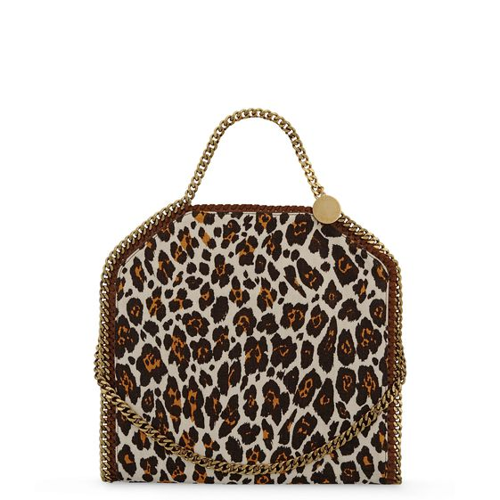 Stella McCartney, Falabella Foldover Stampa Leopardo