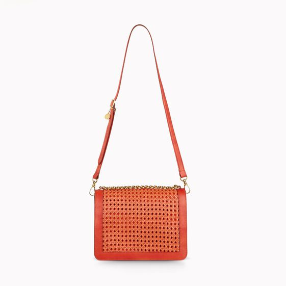 Stella McCartney, Pembridge Braided Faux Vacchetta Clutch 