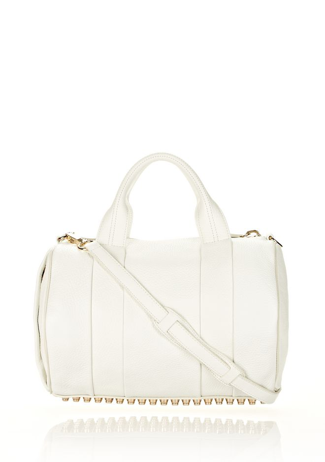 ALEXANDER WANG Shoulder bags Women ROCCO IN SOFT PEROXIDE WITH PALE GOLD