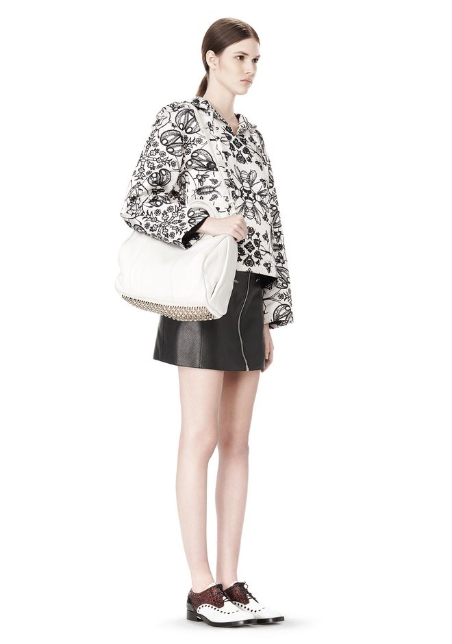 ALEXANDER WANG ROCCO IN SOFT PEROXIDE WITH PALE GOLD Shoulder bag Adult 12_n_r