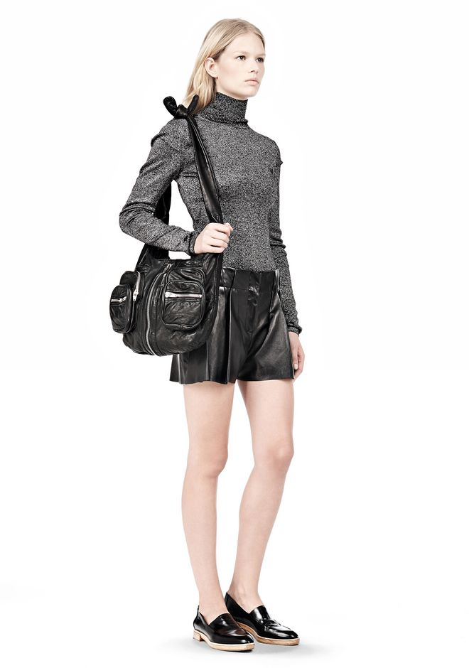 ALEXANDER WANG DONNA IN WASHED BLACK WITH RHODIUM  Shoulder bag Adult 12_n_r