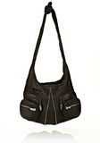 ALEXANDER WANG DONNA IN WASHED BLACK WITH RHODIUM  Shoulder bag Adult 8_n_f