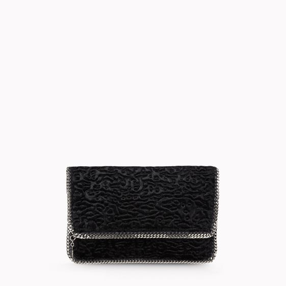 Stella McCartney, Falabella Faux Fur Fold Over Clutch 