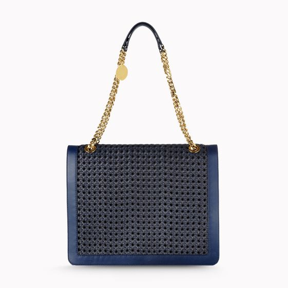 Stella McCartney, Pembridge Braided Faux Vacchetta Shoulder Bag
