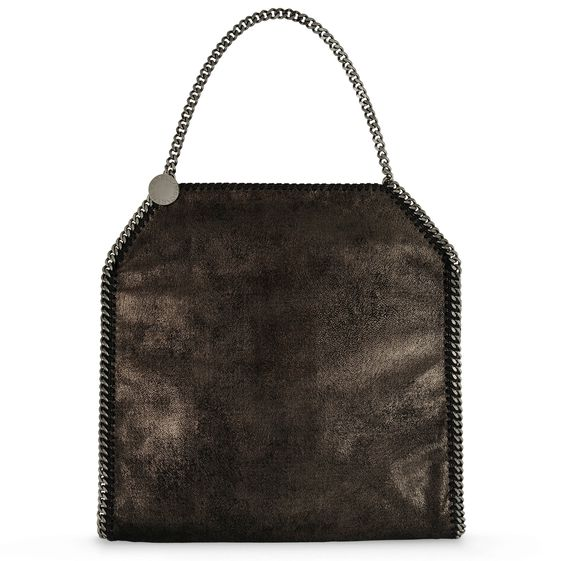 Stella McCartney, Groe Tasche Falabella in Chamois-Optik