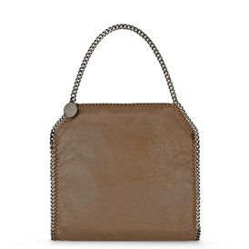 STELLA McCARTNEY, Shoulder Bag, Falabella Chamois Small Tote 