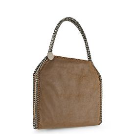 STELLA McCARTNEY, Schultertasche, Kleine Tote Bag Falabella in Chamois-Optik