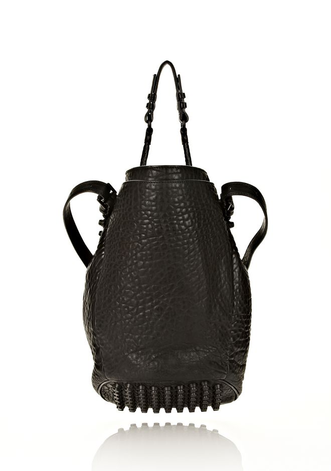 ALEXANDER WANG DIEGO IN BLACK PEBBLE LEATHER WITH MATTE BLACK Shoulder bag Adult 12_n_d