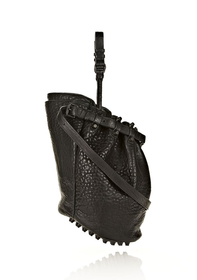 ALEXANDER WANG DIEGO IN BLACK PEBBLE LEATHER WITH MATTE BLACK Shoulder bag Adult 12_n_e
