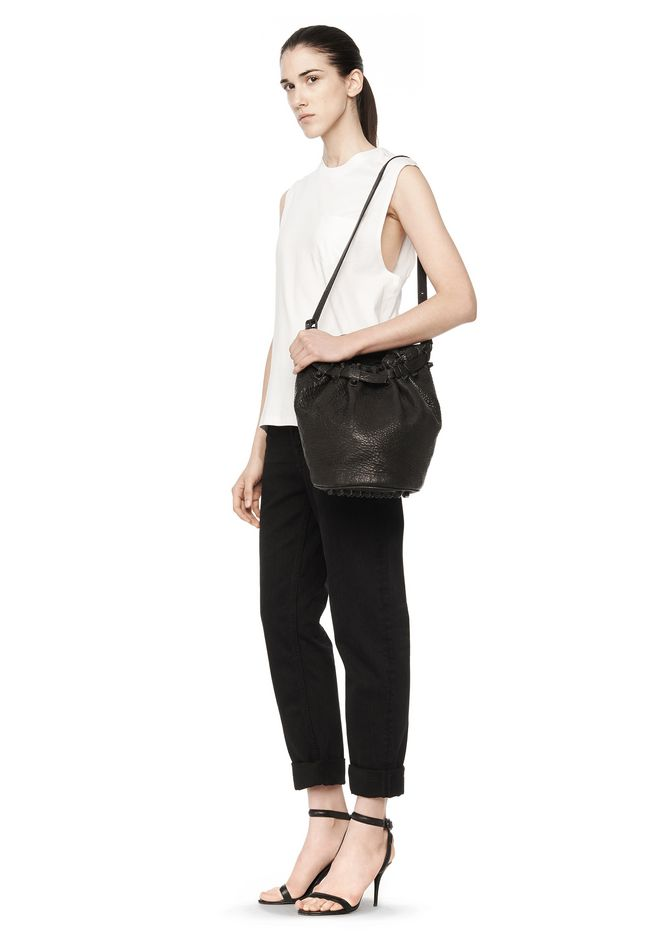 ALEXANDER WANG DIEGO IN BLACK PEBBLE LEATHER WITH MATTE BLACK Shoulder bag Adult 12_n_r