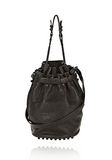 ALEXANDER WANG DIEGO IN BLACK PEBBLE LEATHER WITH MATTE BLACK Shoulder bag Adult 8_n_f