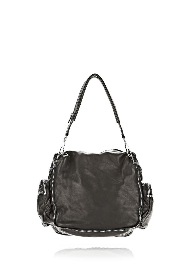 ALEXANDER WANG JANE IN BLACK WASHED LAMB  WITH RHODIUM  Shoulder bag Adult 12_n_d