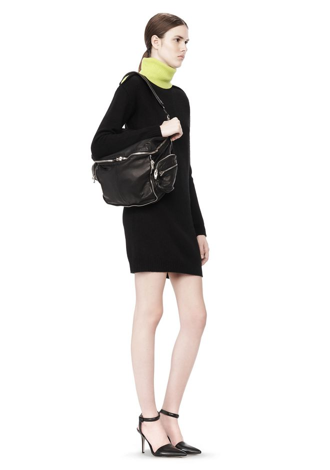 ALEXANDER WANG JANE IN BLACK WASHED LAMB  WITH RHODIUM  Shoulder bag Adult 12_n_r