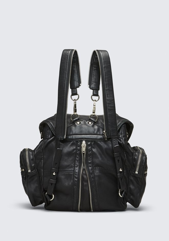 ALEXANDER WANG MARTI BACKPACK IN WASHED BLACK  WITH RHODIUM  BACKPACK Adult 12_n_d