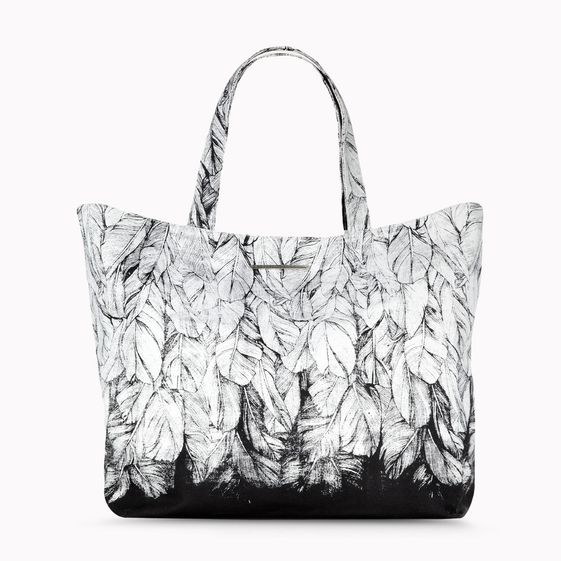 Stella McCartney, Noemi Feather Print Shopper