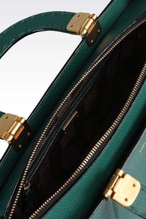 calfskin handbag with detachable shoulder strap: Shoppers Women by Armani - 3
