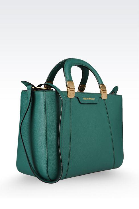 calfskin handbag with detachable shoulder strap: Shoppers Women by Armani - 4